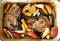 Recipe baked pork chops with applesauce