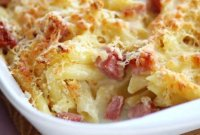 Recipe for baked pasta with egg