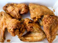 Recipe for buffalo wings fried