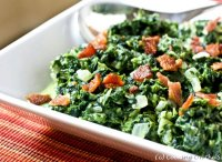 Recipe for cooked spinach with bacon