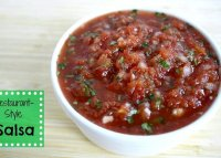 Recipe for homemade salsa using canned tomatoes