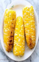 Recipe for shucked corn on the grill