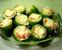 Recipe for stuffed green peppers with ground turkey