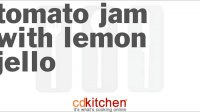 Recipe for tomato preserves with lemon jello