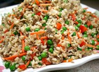 Recipe fried rice egg vegetables