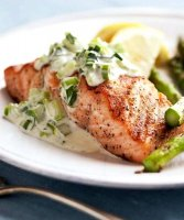 Recipe grilled salmon with mayonnaise