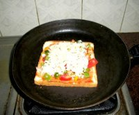 Recipe of bread pizza on tawa in hindi