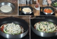 Recipe of pizza without oven in hindi language