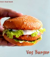 Recipe of vegetable burger patty