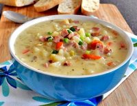 Recipe potato leek soup with ham
