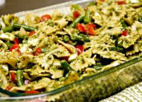 Recipe sausage vegetables pasta pesto