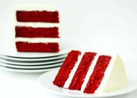 Red velvet cake recipe made with sour cream