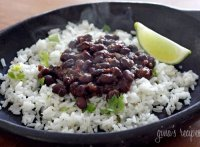 Rice black beans cuban recipe