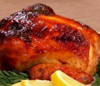Roast chicken with honey recipe