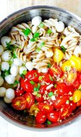 Roasted grape tomatoes with pasta recipe