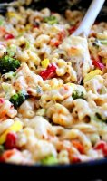 Roasted vegetable mac and cheese recipe