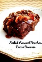 Salted caramel bacon brownie recipe