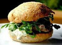 Seared ahi tuna steak burger recipe