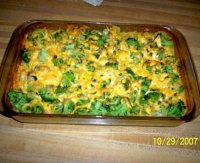 Simple broccoli cheese rice casserole recipe