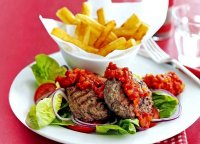 Slimming world burger and chips recipe