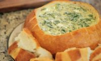 Spinach cheese dip bread bowl recipe
