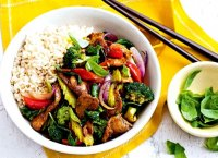 Stir-fry pork recipe vegetables pasta