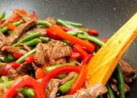 Stir-fry spaghetti with beef recipe