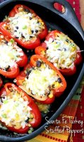 Stuffed peppers recipe with ground turkey and rice