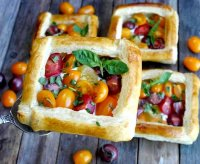 Summer vegetable puff pastry tart recipe