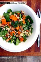 Sweet brown rice salad recipe
