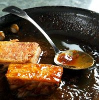 Sweet crispy pork belly recipe