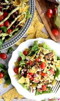 Taco salad recipe without meat for five people