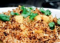 Thai red fried rice recipe