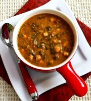 Tomato based bean soup with vegetables recipe