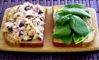 Tuna salad recipe with cranberries and almonds