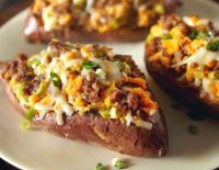 Twice baked stuffed sweet potato recipe