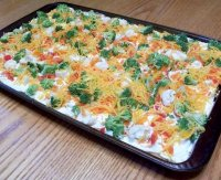 Vegetable pizza cream cheese recipe