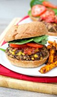 Veggie burger recipe black bean mushroom brown rice