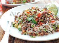 Vermicelli beef and thai basil salad recipe