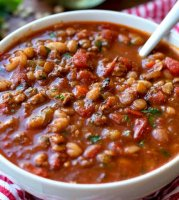 White beans ground beef recipe