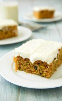Zucchini cakes recipe with cream cheese frosting