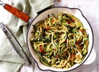 Zucchini noodles recipe garlic butter