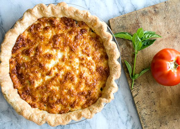 Tomato pie recipe with mayonnaise