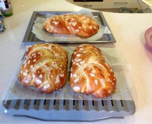 Tsoureki greek sweet bread recipe