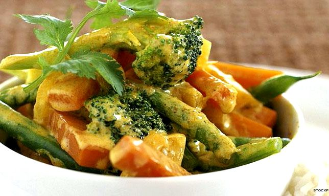 Vegetable curry recipe with coconut milk